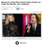 Beyoncé e Paul McCartney, estarão na copa?